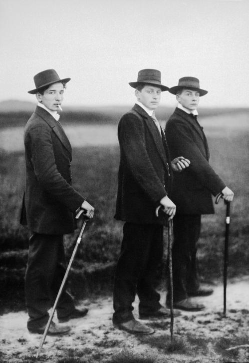 אוגוסט זאנדר, איכרים צעירים, 1914
